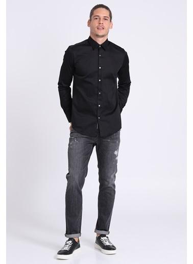 Lufian Uzun Kollu Slim Fit Gömlek Siyah